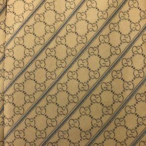 Gucci GG yellow designer silk tie